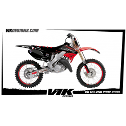 KIT ADHESIVOS HONDA CR 125-250 2002-2008