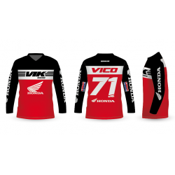 CAMISETA MOTOCROSS RIDE ROJO/NEGRO